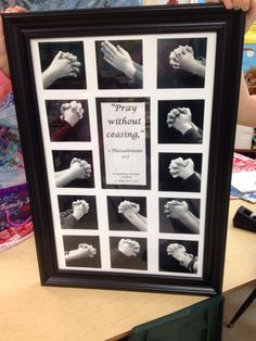 Pray without ceasing.  Auction project of kids' hands