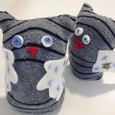#recycling - #mygirls made these #owls from old socks #craft #birds #kotijuttuja #askartelu  #kids #barn #pyssel #ite