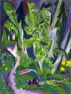 Ernst Ludwig Kirchner | 1880-1938, Germany | Mountain Forest