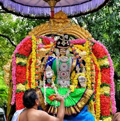 Padmavathi is the consort of Lord Venkatachalapathy of Tirumala; the second richest place of worship in the world (first is the Vatican) . The decoration was just fantastic so have shared it with friends to enjoy the beauty of the Alangaram (decoration).