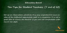Student teacher tips (tip 7)