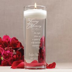 In Loving Memory Memorial Cylinder Exclusively Weddingsfloating Candlesmemory