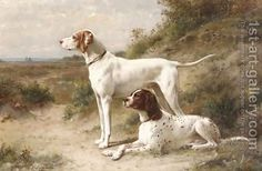 Otto Eerelman:Two pointers Hans and Spot on the heath