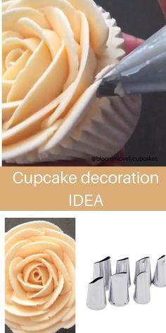 Cupcake Decorating Tips, Buttercream Cake Decorating, Cake Decorating Designs, Creative Cake Decorating, Cake Decorating Techniques, Creative Cakes, Cake Designs, Cookie Decorating, Decorating Ideas