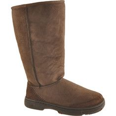 Uppers are twin-faced sheepskin with suede toe and heel guards.Removable and replaceable sheepskin insole.Outsole is molded rubber with Eva inserts that provide extra heel and forefoot cushioning.This boot is similar to the Ultra Tall boot. It h