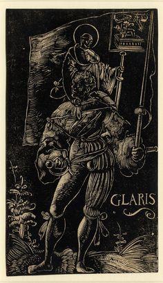 Standard Bearer of Glarus by Urs Graf, 1521 series of 16 woodcuts