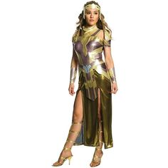 Wonder Woman Movie - Hippolyta Deluxe Women's Costume ($58) ❤ liked on Polyvore featuring costumes, halloween costumes, womens wonder woman costume, deluxe womens costumes, wonder woman halloween costume, deluxe wonder woman costume and party costumes