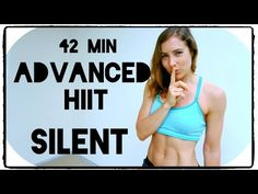 ADVANCED SILENT HIIT: 42 Min Full Body Workout - YouTube
