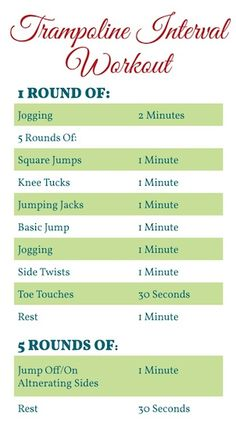 Check out our Holiday Trampoline Workout on the blog today #trampoline #health…