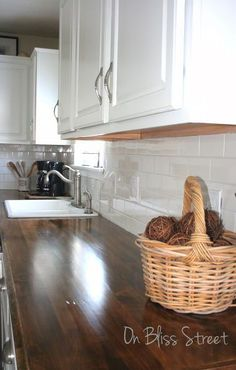 make your own beautiful wood countertops for under 200, countertops, kitchen cabinets, kitchen design, kitchen island, woodworking projects