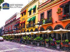 Lugares encantadores. EL MEJOR HOTEL EN PUEBLA. En el centro de la ciudad, existen distintos lugares para disfrutar en familia o con amigos, mientras comparten sus experiencias más maravillosas de este viaje. En Best Western Real de Puebla, le recomendamos visitar Los Portales, donde encontrará cafeterías, restaurantes y bares para convivir. #bestwesternhotelrealdepuebla