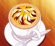 If only I could have a drink like this :P Golden Time