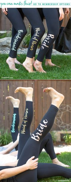 Don't Be a Bridezilla with These Iron-On Leggings for Bridal Party Gifts! Always the bridesmaid … At least you will receive gifts! Br The best place to eat in town This bridal party to iron on. From Pre-Bachelorette Party Training to Bridal Shower! Wedding Party Shirts, Gifts For Wedding Party, Wedding Parties, Diy Party, Party Favors, Wedding Ideas, Ideas Party, Table Wedding, Bridal Gifts