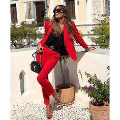Amazon.com: UONBOX Women's Cut Out 2 Pieces Slim Fit Blazer Jacket Pants Suit Set (XS, Black2): Clothing Black And White Suit, Keep It Classy, Weekend Style, Office Fashion, Anastasia, Blazer Jacket, Slim, Clothes For Women, Instagram