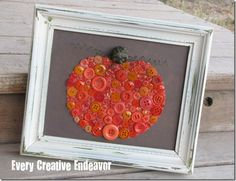 Fall Pumpkin with Buttons