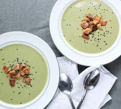 Broccoli, Cheese, and Wasabi Soup---Umm yumm