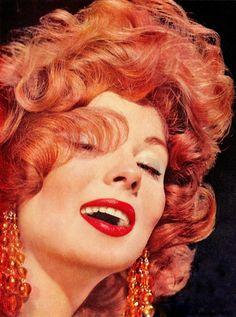 be4d43c0f14d3e SUZY PARKER 1950 s supermodel   actress (1932-2003) Du Barry Color Glo hair  color by Richard Hudnut 1958 vintage ad (detail) (please follow minkshmink  on ...