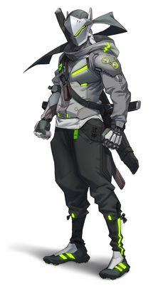 Genji Character Art - Overwatch 2 Art Gallery