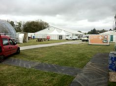 Helping USW with stand for Urdd Eisteddfod 2013. It is seriously windy here today!!