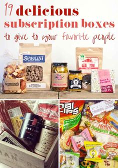 19 Food And Booze Subscription Boxes That Make Awesome Gifts..........sam, jesse