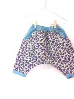 花柄サルエルパンツ - かわいいハンドメイドベビー服 lepolepo ルポルポ