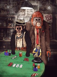 Poker's Monkey Illustration   FB -> https://www.facebook.com/shokart74/