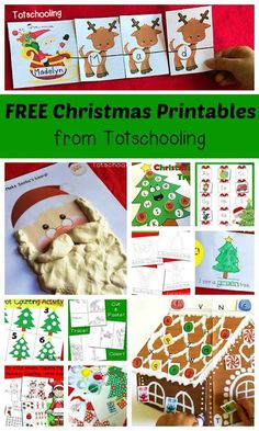 Lots of free Christmas games for preschool and kindergarten. Math activities, ABC games, name puzzles... lots of fun Christmas centers.