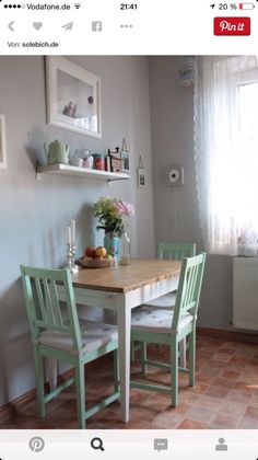 Great Kitchen   Love The Mint Chairs
