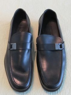 81783d19e8ddb Men s Salvatore Ferragamo black leather monk strap Gancini bit loafers sz  11 EE- SOLD Bit