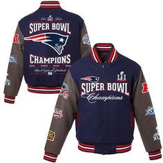 Tom brady New England Design 5-Time Super Champions Revers Wool Jacket NFL 2016 2017 Hoodies & Sweatshirts (32794526047)  SEE MORE  #SuperDeals