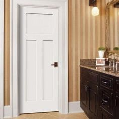 Craftsman Primed Left Hand Smooth Solid Core Molded Composite MDF Single Prehung  Interior Door | Prehung Interior Doors, Interior Dooru2026