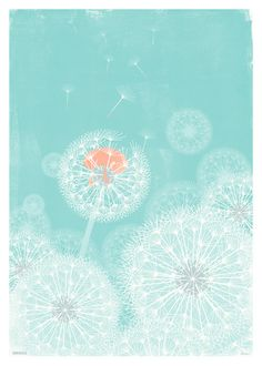 "Current favourite print ""Dandelion"" by Slumber"