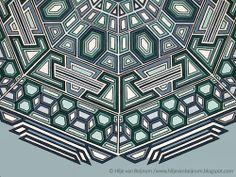 Equation of Infinity, detail, abstract geometric art, Hilje van Beijnum