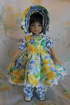 Is-It-Spring-Yet-Dress-Romper-Ensemble-for-your-13-Effner-Little-Darling-Doll. Ends 7/30/14. SOLD for $62.00