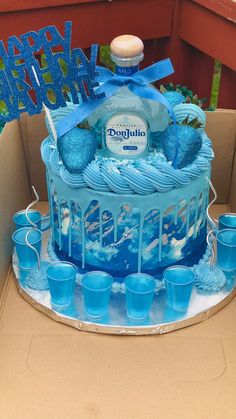 Alcohol Birthday Cake, Alcohol Cake, Birthday Cake For Him, Special Birthday Cakes, Custom Birthday Cakes, Adult Birthday Cakes, Beautiful Birthday Cakes, Birthday Ideas, Birthday Cake Decorating