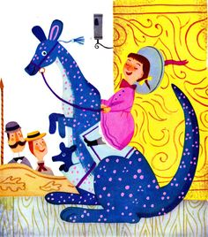 """Le Manege Vivant"" (French edition of The Marvelous Merry-Go-Round) written by Jane Werner & illustrated by J.P. Miller. Circa 1950."