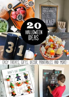 20+ Halloween Ideas - Decor, Gifts, Printables and More!