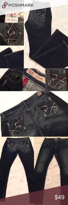 """BIG STAR Jeans, Women's Size 36"""" Detailed! Great pre-loved condition! Mild fraying at the bottoms-see photos.  These are beautiful!!  Size 36"""" waist & 35.5"""" inseam!   Happy Shopping!  (Original price is an estimation.) Big Star Jeans"""