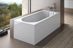 Prostokątna wanna Besco Intrica z obudową akrylową. #besco #wnetrzazesmakiem #wanny #bath #designbath #bath #bathtube #przebudowadomu #projektowaniewnetrzkrakow #projektowaniewnetrzszczecin #modnemieszkanie #bohointerior #homebook #design_interior_home #bathrom #instagood Alcove, Bathtub, Bathroom, Home, Products, Ideas, Standing Bath, Washroom, Bathtubs
