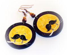 Birds Love birdsDecoupage earrings boho hippie style by SzaraLotka, $12.00