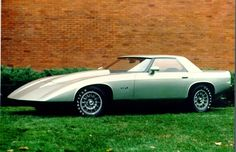 "1973 Corvette XP-898. It looks a bit like post-1982 Corvettes, but the one-off XP-898 of 1973 was actually built on the chassis of Chevy's small four-cylinder Vega. It's mission was to test feasibility of a new ""sandwich"" fiberglass body construction using a foam filler that could be varied in thickness to provide desired strength in specific areas. Though it looks a bit dated now, XP-898 would have been a great replacement for the '68-vintage ""Shark"" Corvette in, say, 1975."