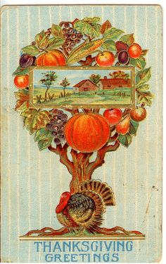 Beautiful vintage Thanksgiving postcard courtesy of Sandy Redburn and . Happy Thanksgiving Wallpaper, Thanksgiving Graphics, Thanksgiving Greeting Cards, Thanksgiving Blessings, Vintage Thanksgiving, Thanksgiving Traditions, Vintage Holiday, Vintage Halloween, Thanksgiving Quotes