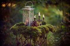 #lantern #candles #moss #pinecone #magic #forest #light #witchcraft #decor