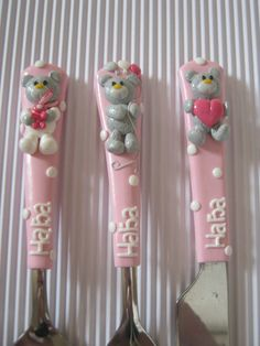 Cutlery for GirlsPersonalized GiftsBaby Girl by cutlerydesignJS