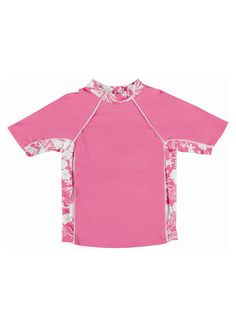 Pink Hawaiian UV Rash Vests by Mitty James Kids Beachwear