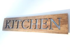 Kitchen Art Wooden Sign Cut Out Letters