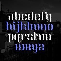 Ut One (Display font) by Wete , via Behance