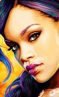 Not the biggest Rihanna fan but this painting caught my eyes pretty quick. So well done.