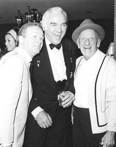 Jimmy Durante is one of the all time greats in showbiz. The comedic singer spent a lot of time palling around with his celebrity friends, like Red Buttons and Lorne Greene. Here is a great video that showcases his true talents: http://sos.me/dpH2If