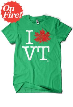 I Leaf VT Tee & Other Vermont Inspired Clothing